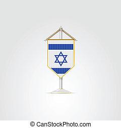 israel., nemzeti, ábra, jelkép, középső, countries., kelet