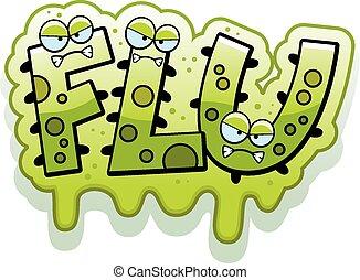 iszapos, influenza, karikatúra, bogár, szöveg