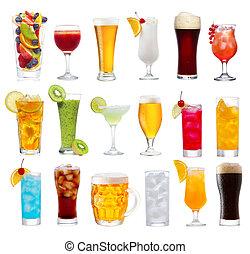 iszik, koktél, sör, állhatatos, különféle