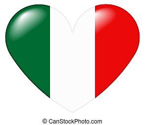 italiano, szív, olasz, -, cuore