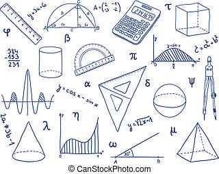 izbogis, -, alakzat, anyagi készletek, matematika, geometriai, kifejezések
