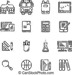 izbogis, alapismeretek, áttekintés, háttér., állhatatos, fehér, ikon