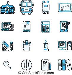 izbogis, alapismeretek, áttekintés, háttér., állhatatos, fehér, megtöltött, ikon
