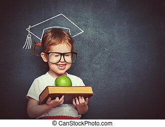 izbogis, alma, előjegyez, bizottság, diáklány, leány