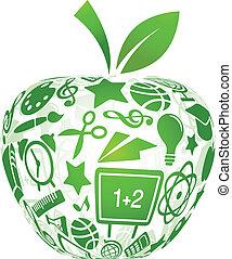 izbogis, alma, ikonok, -, hát, oktatás