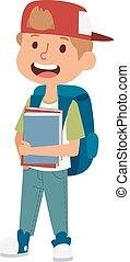 izbogis, betű, elemi, vector., oktatás, kölyök