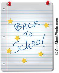 izbogis, csillag, hát, jegyzetfüzet, anyagi készletek, oktatás