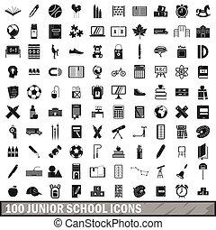 izbogis, ikonok, állhatatos, mód, egyszerű, 100, ifjú