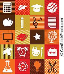 izbogis, ikonok, -, hát, háttér, oktatás