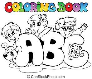 izbogis, színezés, irodalomtudomány, könyv, ábécé