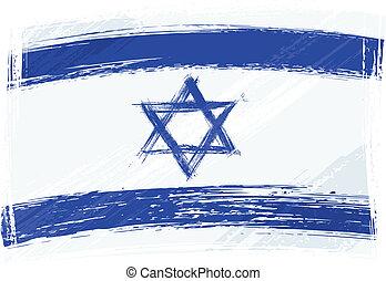 izrael, grunge, lobogó