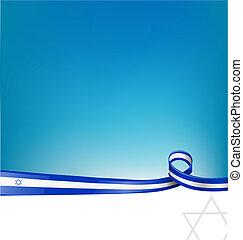 izrael, szalag, lobogó, háttér