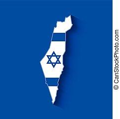 izrael, térkép