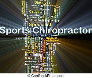 izzó, fogalom, hátgerincmasszázzsal gyógyító, háttér, sport