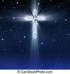 izzó, vallásos, kereszt, csillaggal díszít