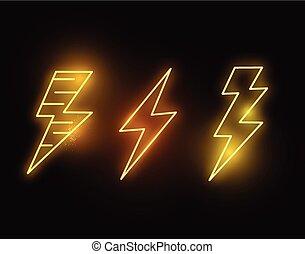 izzó, villámlás, neon, csípős, elinal