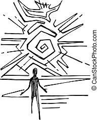 jámbor, galamb, jelkép, vallásos, lélek, ember