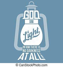 jános, árnykép, alakít, új, isten, testamentum, tervezés, idézőjelek, biblia, szüret, lámpa, fény