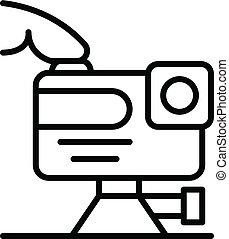 játék, áttekintés, mód, akció, fényképezőgép, ikon