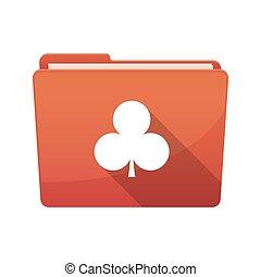 játék kártya, piszkavas, elszigetelt, klub, aláír, irattartó