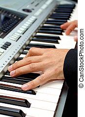 játék, piano.