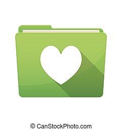 játék, szív, kártya, piszkavas, elszigetelt, aláír, irattartó