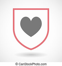 játék, szív, kártya, piszkavas, elszigetelt, aláír, pajzs