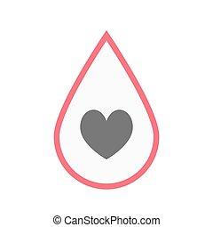 játék, szív, vér, kártya, piszkavas, elszigetelt, aláír, csepp