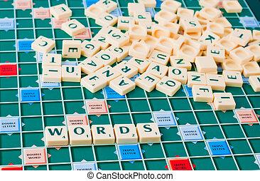 játék, szavak