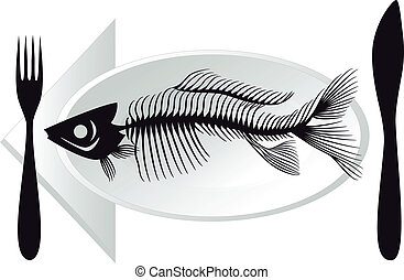 játékkockák, fish, vektor, tányér