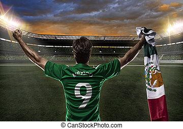 játékos, futball, mexikói