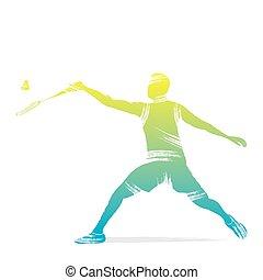 játékos, tollaslabda, tervezés