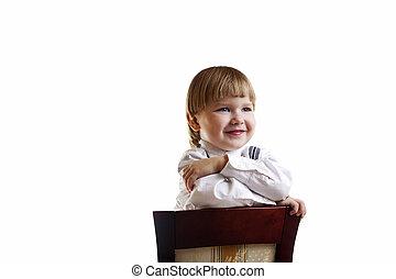 játékszer, copyspace, ülés, elszigetelt, hord, szék, plüss