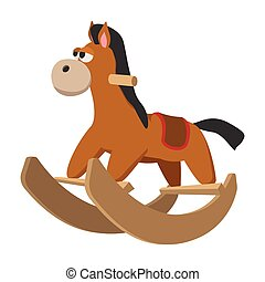 játékszer, tol, ikon, karikatúra, ló