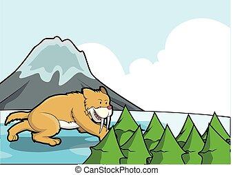 jég, sabertooth, színhely, hegy