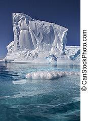 jéghegy, öböl, -, paradicsom, úszó, antarktisz