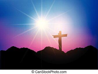jézus, árnykép, kereszt, 1303