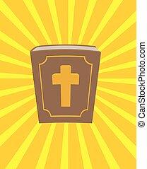 jézus, bible., áldott, könyv, új, sun., sűrű, light., god., cross., szüret, jámbor, öreg, christ., körülbelül, küllők, leather-bound., testamentum, nagy