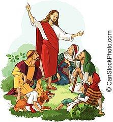 jézus, evangélium, preaches