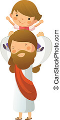jézus, fiú, szállítás, krisztus, kellene