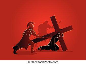 jézus, idő, először, vízesés