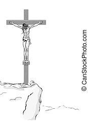 jézus, kereszt, krisztus