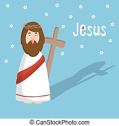 jézus, meghívás, húsvét, kártya, kereszt, krisztus, köszönés, vektor
