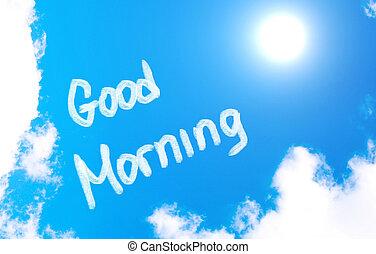 jó, fogalom, reggel