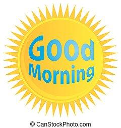 jó reggelt, napkelte, ikon