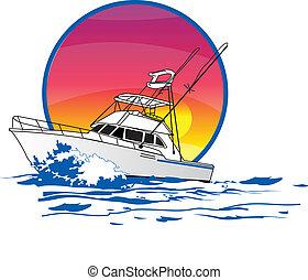 jóbarát, sportfisher, csónakázik