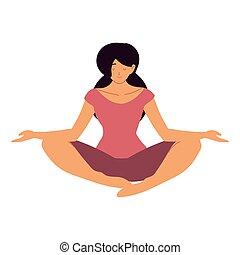 jóga, elmélkedés, nő