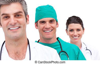 jókedvű, orvosi sportcsapat, portré