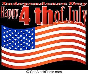 július, nap, szabadság, 4