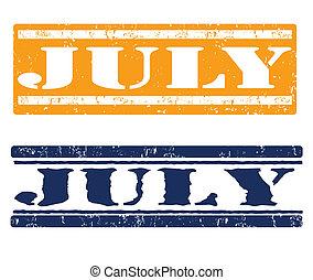 július, topog